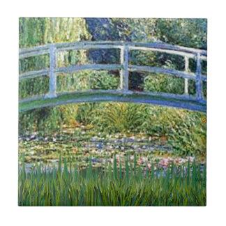 Lily Pond Bridge - insert your pet Tile