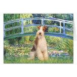 Lily Pond Bridge - Wire Fox Terrier 3 Card