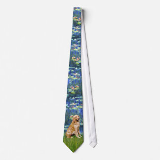 Lily Pond (in blue) - Golden Retriever Tie