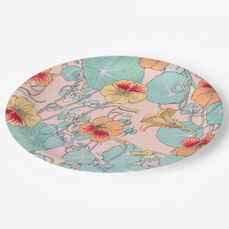 Lily Pond Paper Plate