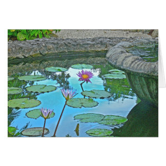 """LILY POND""  (PHOTO MANIP.) GREETING CARD"