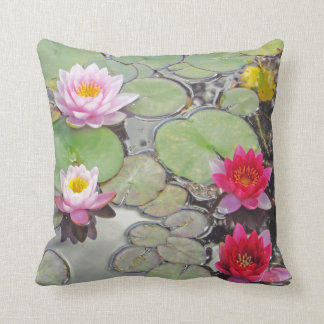 Lily Pond With Lotus Blossoms Cushion