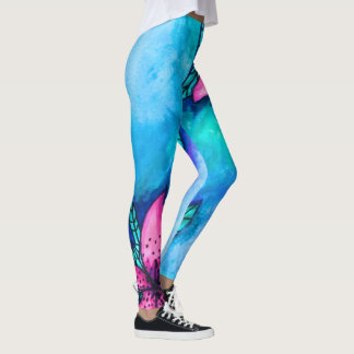 Lily Print Leggings