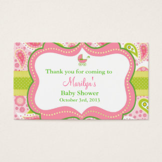 Lily Pulitzer Inspired Favor Tags Matched Invite