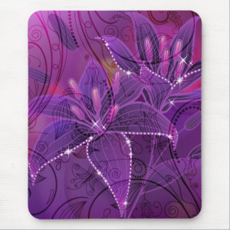 Lily Purple Dreams Mouse Pad