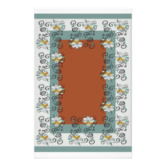 Lily Scroll Stationery