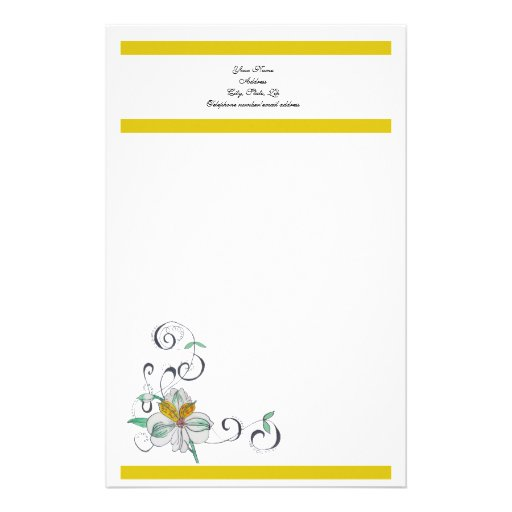 Lily & Scroll Stationery