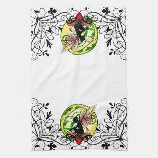 Lily Shadow Fairy Tea Towel