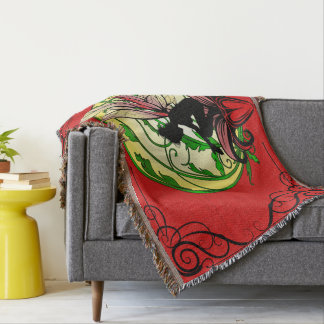 Lily Shadow Fairy Throw Blanket