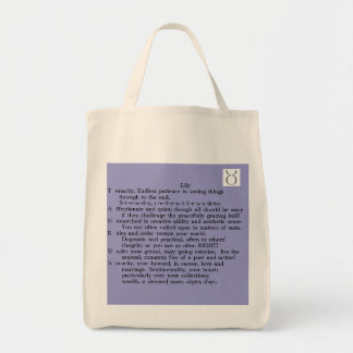 Lily Taurus Apr 20-May 20 poem tote