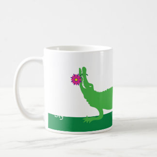Lily, the alligator coffee mug