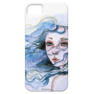 """""""Lily"""" Watercolor portrait iPhone 5 case"""
