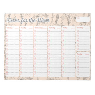Lily Weekly Planner Notepad