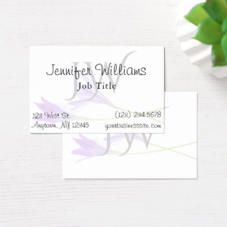 Lily White Professional Spa Salon Business Card