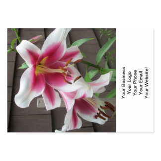 Lily White Purple Large Plant Business Card Template