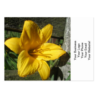 Lily Yellow Weathered Fence Business Card Templates