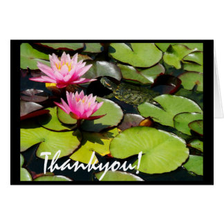 Lilypad Turtle Thankyou Card
