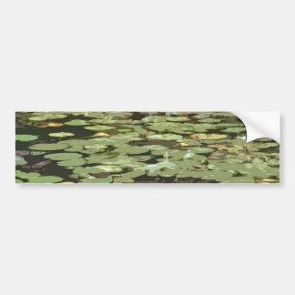 Lilypads Impressionism art Bumper Sticker