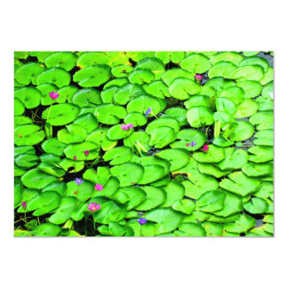 """Lilypads in the River Photograph 5"""" X 7"""" Invitation Card"""