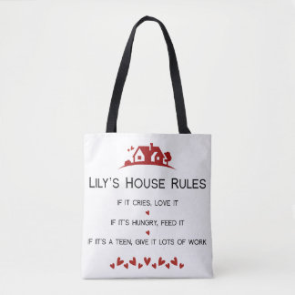 Lily's House Rules Tote Bag