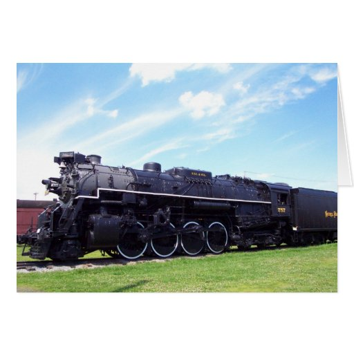 Lima-Baldwin Locomotive Nickel Plate Railroad #757 Greeting Cards