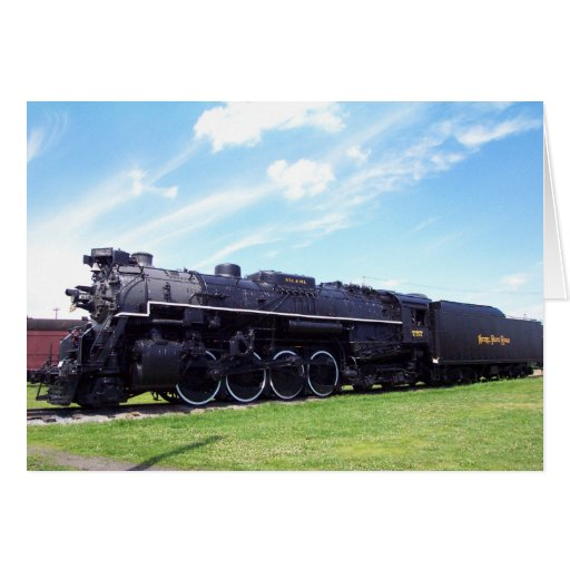 Lima-Baldwin Locomotive Nickel Plate Railroad #757 Greeting Card
