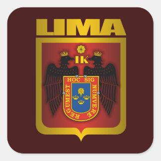 """""""Lima Gold"""" Square Sticker"""