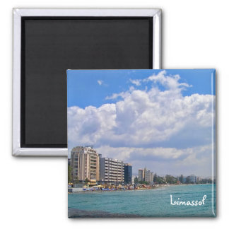 Limassol – famous city in south of Cyprus Square Magnet