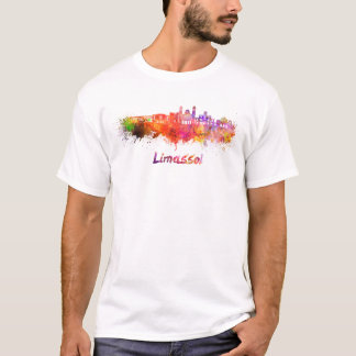 Limassol skyline in watercolor T-Shirt