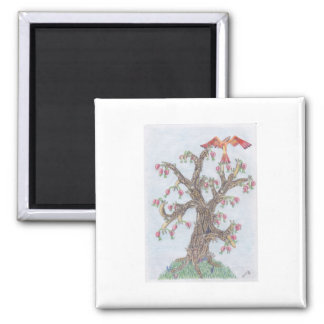 Limax Tree Square Magnet
