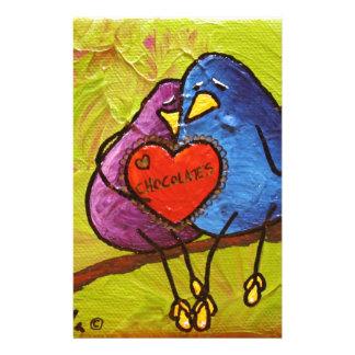 "LimbBirds ""Chocolate Valentine"" Stationery Paper"