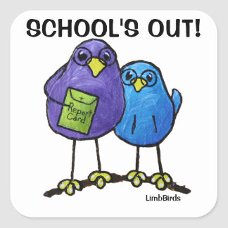 LimbBirds Square Stickers, Glossy Square Sticker
