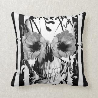 Limbo, skull with poppy eyes cushion