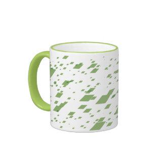 Lime 3d Boxes Ringer Mug
