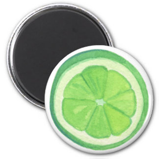 Lime 6 Cm Round Magnet