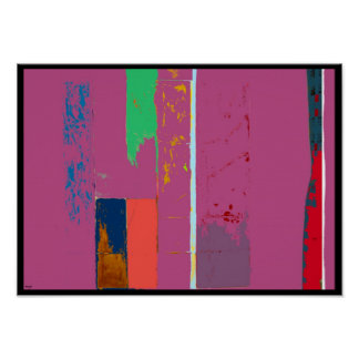 Lime Abstract Digital Expressionism Poster