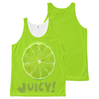 Lime All-Over Print Singlet
