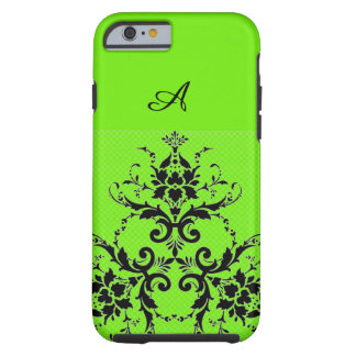 Lime and damask phone case