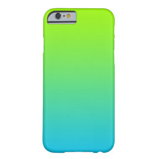 Lime and Ocean Ombre Barely There iPhone 6 Case