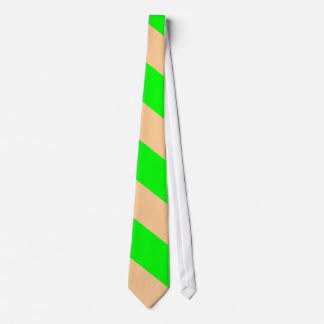 Lime and Peach-Striped Tie