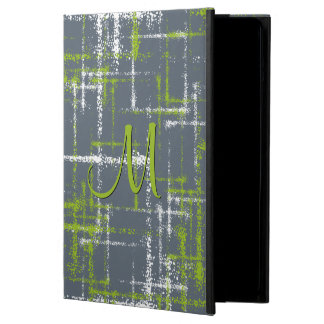 lime and white abstract crisscrossed squares iPad air cover