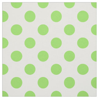 Lime and white polka dots fabric