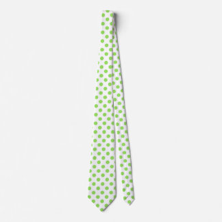 Lime and white polka dots tie