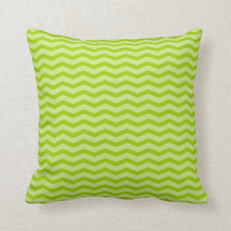Lime apple green chevron pattern throw pillow cushions