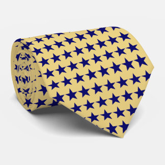 Lime Azure Stars Pattern Tie