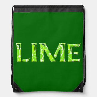 Lime Drawstring Bags