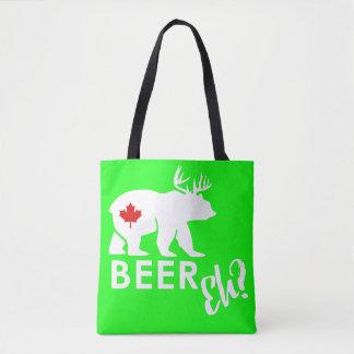 lime Beer bear tote bag