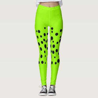Lime Black Sports Leggings Running Workout Gym
