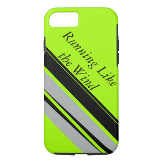 Lime Black Sporty Running Runners Sports Fashion iPhone 8/7 Case