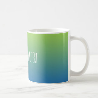 Lime Blue Gradient custom text mugs